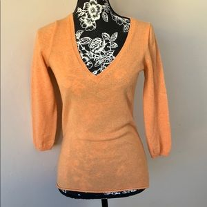 J crew cashmere sweater 1/4 sleeve